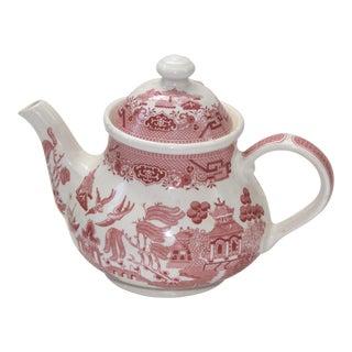 Churchill England Pink Willow Ironstone Teapot