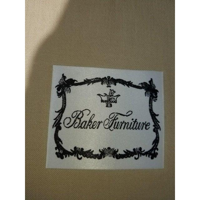 John Saladino for Baker Leather Swivel Lounge Chair - Image 10 of 11
