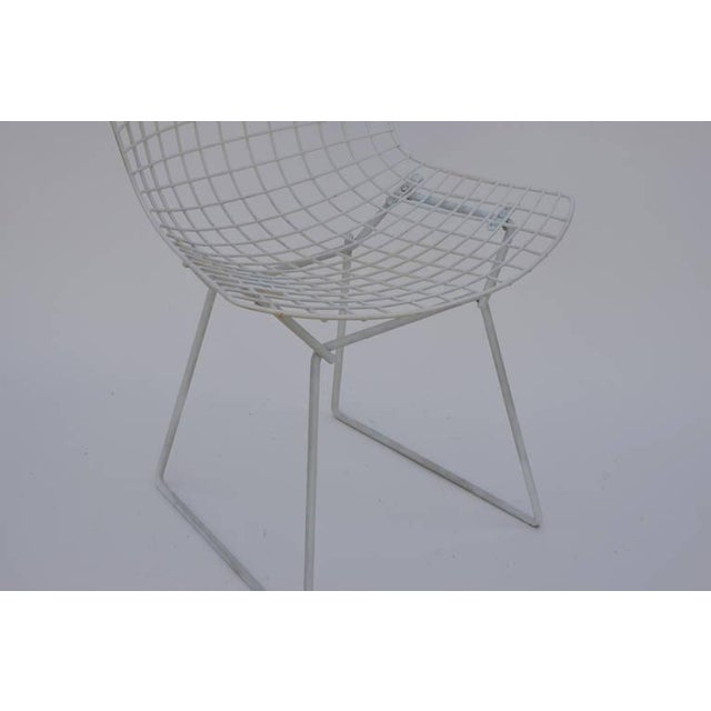Set of Four Original Wire Chairs by Harry Bertoia for Knoll For Sale In Los Angeles - Image 6 of 7
