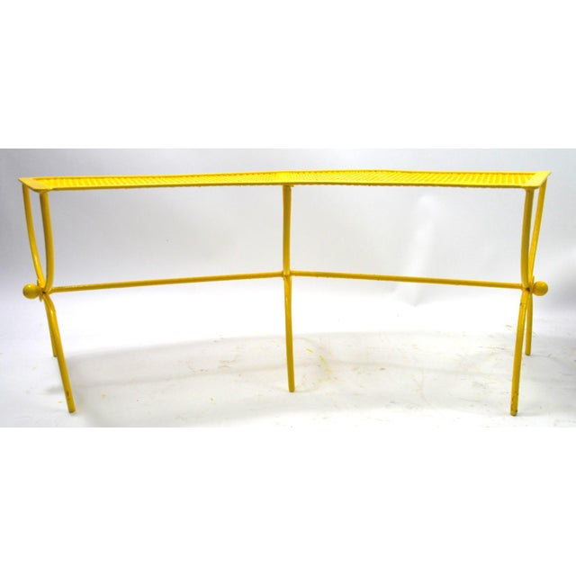 Metal Curved Garden Patio Benches by Salterini Pair Available For Sale - Image 7 of 12