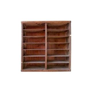 Vintage 1950s Wooden Pie Storage Crate Box