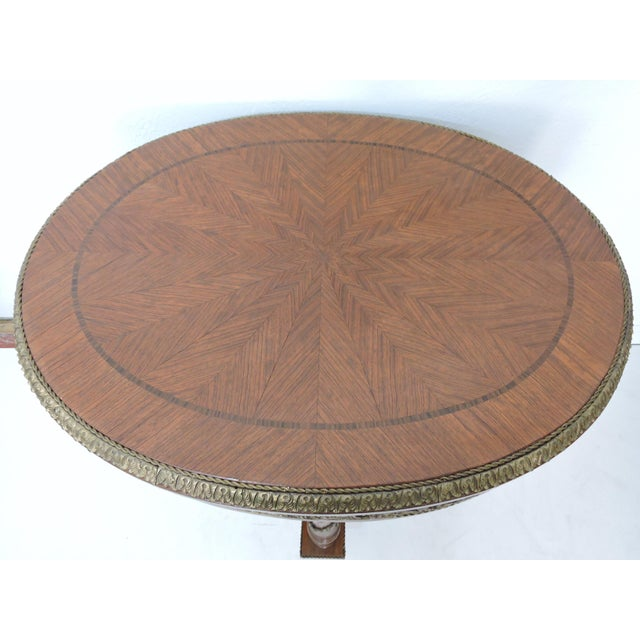 Metal Antique French Louis XV Style Ormolu Walnut Centre or Occasional Table For Sale - Image 7 of 7