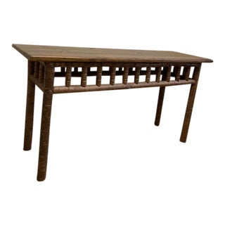 Rustic La Lune Collection Custom Console Table For Sale