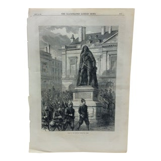 "Mid 19th Century Antique the Illustrated London News ""Entry of the Prussian Troops Into Metz"" Print For Sale"