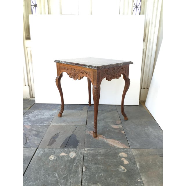 French Regency Style Marble Top Side Table - Image 4 of 5