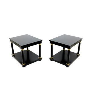 Handsome Pair of Empire Style Side Tables For Sale