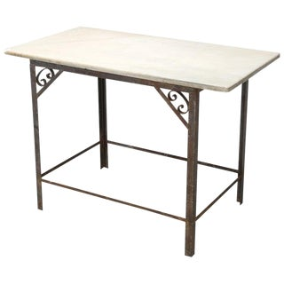 Antique French Industrial Work Table or Island For Sale