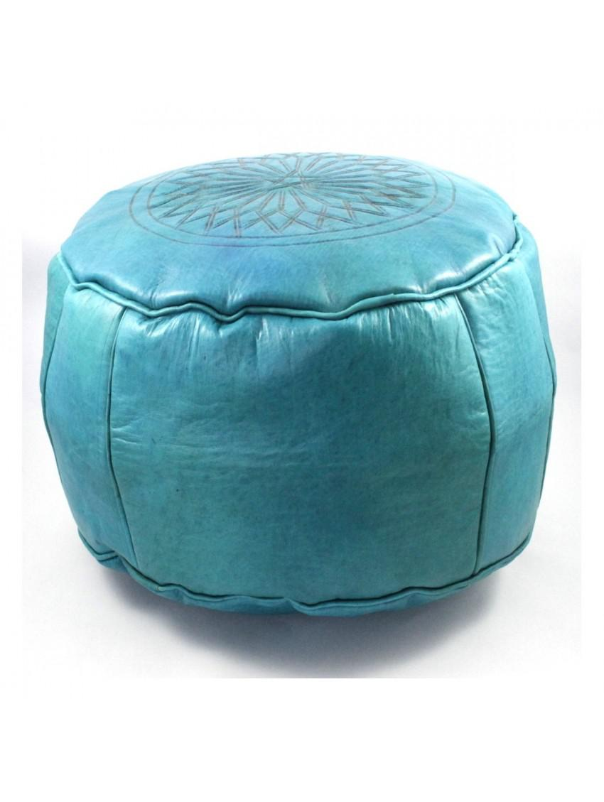 This Is The Moroccan Leather Pouf Ottoman    An Extremely Functional Item,  The Poufs