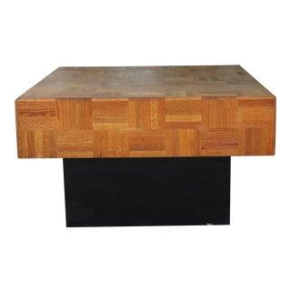 Milo Baughman Style Platform Coffee Table