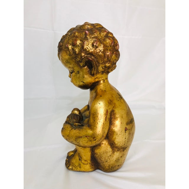 Figurative 1960s Vintage Venetian Style Chalkware Child Figurine For Sale - Image 3 of 10