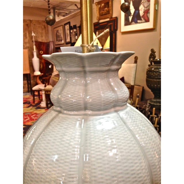 Asian 1960s Marbro Celadon Lamp For Sale - Image 3 of 5