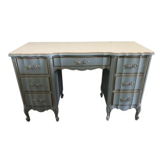 Antique French Provincial Dixie Desk Dresser Custom Painted