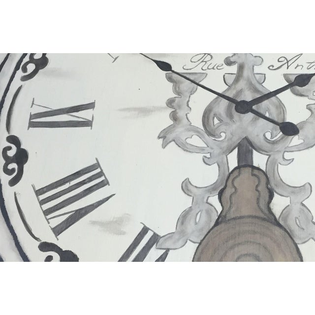 French Clock Accent Table For Sale - Image 5 of 7