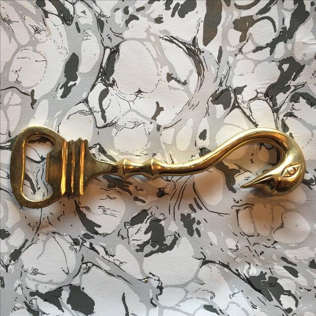Brass Swan Bottle Opener For Sale In Chicago - Image 6 of 6