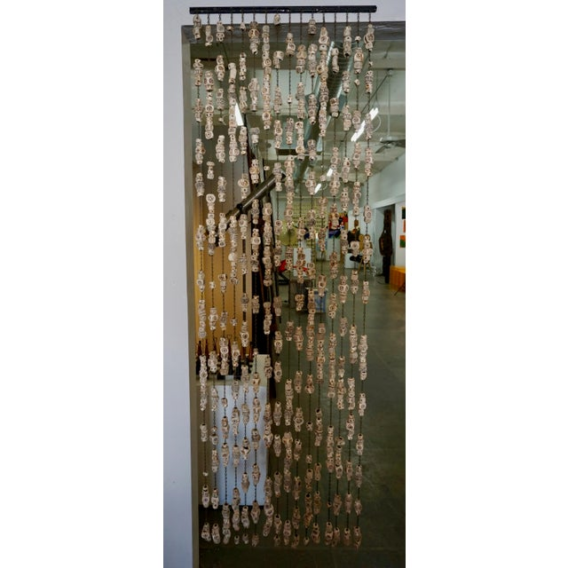 Black 60's Ceramic Bead Tapestry/Room Divider For Sale - Image 8 of 8