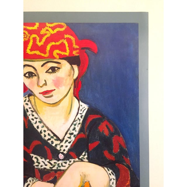 "1990s Henri Matisse Vintage 1991 Lithograph Print Museum Poster "" Madame Matisse Madras Rouge "" 1907 For Sale - Image 5 of 13"