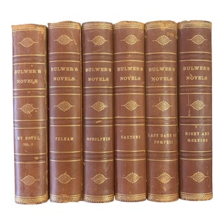 Late 19th Century Bulwer's Novels - Set of 6 For Sale