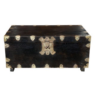 1960s Asian Wood Trunk With Brass Hardware Preview