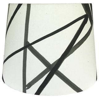 Small Channels Fabric Ebony & Ivory Drum Shade Preview