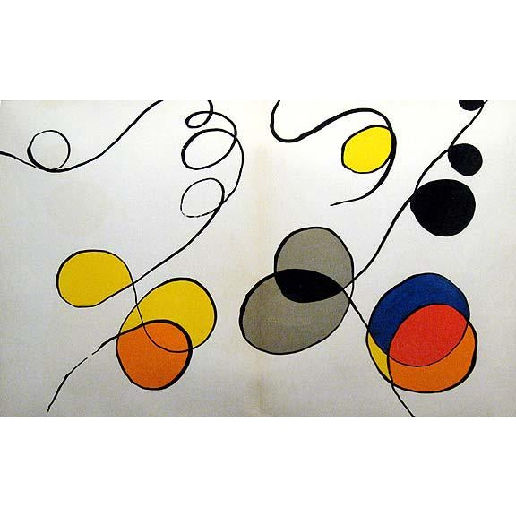 Original Lithograph by Alexander Calder. Not signed by the artist. From the 1968 edition of Derrière Le Miroir (#173)....