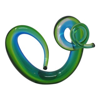 Murano Glass Swirl Sculpture For Sale