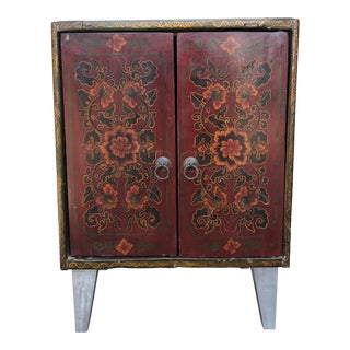 1960s Vintage Tibetan Nightstand For Sale