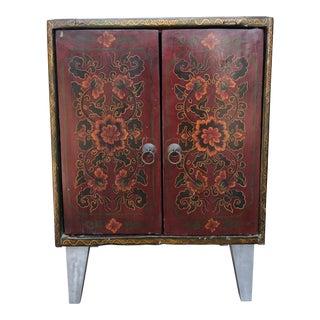 Vintage Tibetan Nightstand For Sale