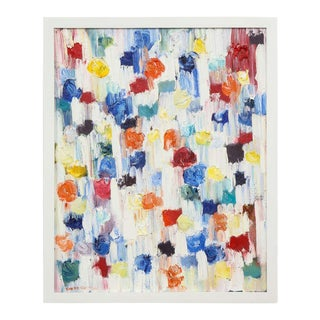"""""""Dripping Dots-Cannes"""" 2018, Oil on Canvas 'Framed', Cindy Shaoul For Sale"""