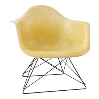 "Vintage Herman Miller Eames ""LAR"" Yellow Armchair For Sale"