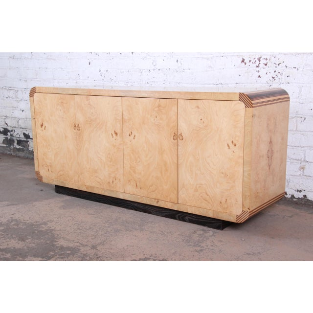 Burled Olive Wood Credenza by Henredon For Sale - Image 13 of 13
