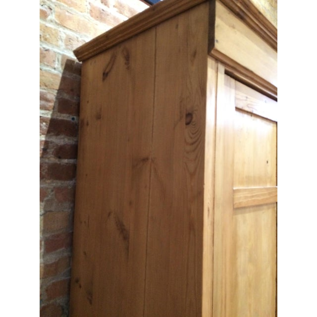 Rustic Vintage Pine Armoire For Sale - Image 3 of 6
