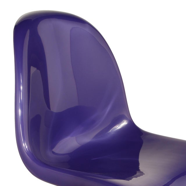 1970s 1976 Verner Panton S-Chair in Purple For Sale - Image 5 of 10