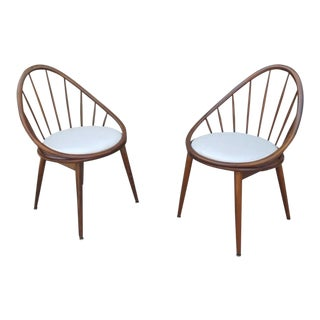 Mid-Century Modern Hoop Chairs - A Pair For Sale