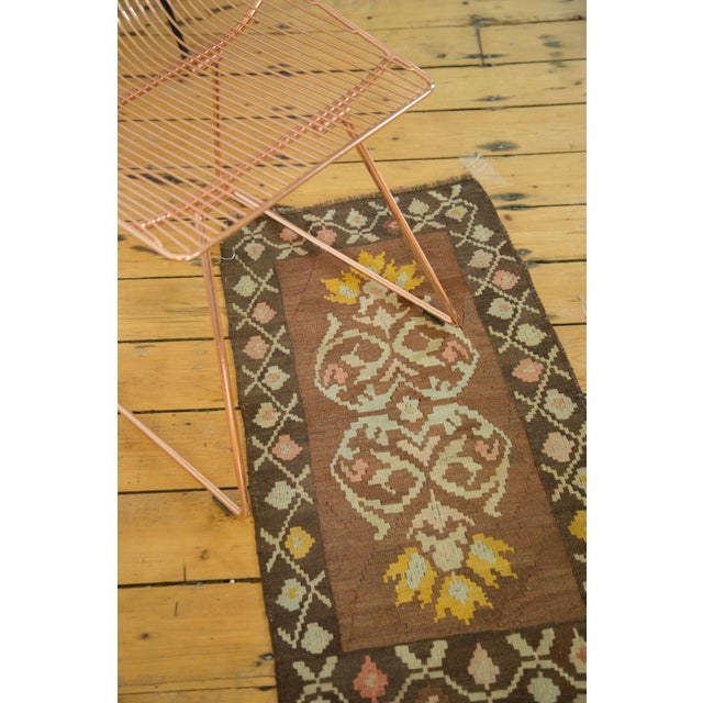 "Vintage Turkish Kilim Runner - 1'7"" x 3'1"" For Sale In New York - Image 6 of 6"