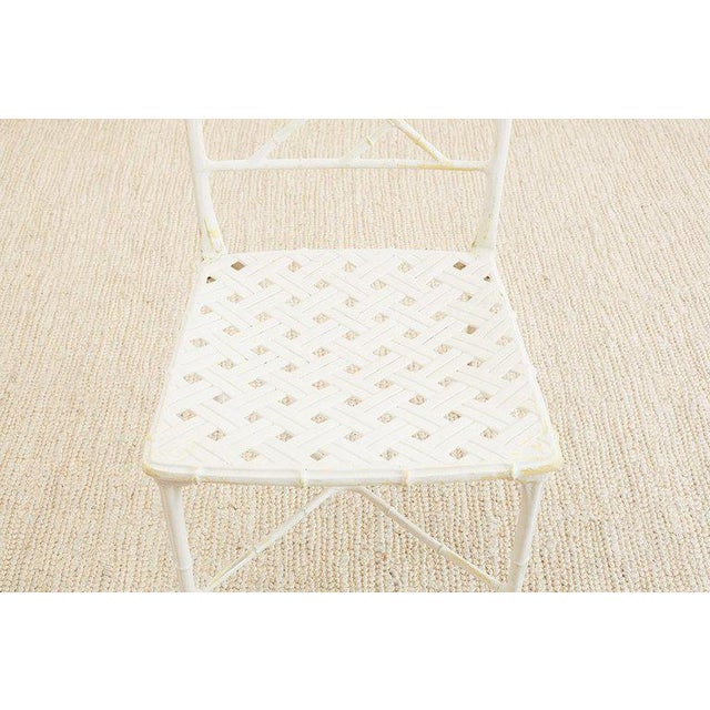 Brown Jordan Calcutta Faux Bamboo Garden Chairs For Sale - Image 10 of 13