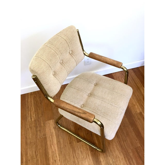 Vintage Brass Dining or Side Chairs - Set of 4 - Image 5 of 11