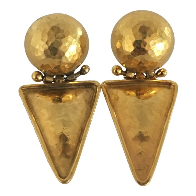 Italian 18k Gold Earrings For Sale