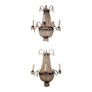 French Chandelier Style Sconces - a Pair For Sale