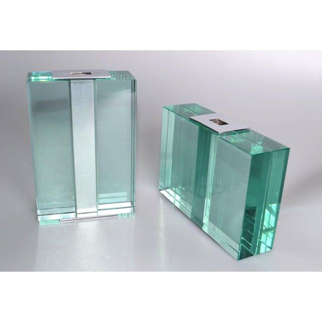 Italian Pair of 1950s Fontana Arte Art Glass Vases For Sale - Image 3 of 10