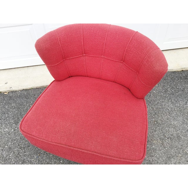 Kroehler Kroehler Atomic Age Swivel Chair For Sale - Image 4 of 11