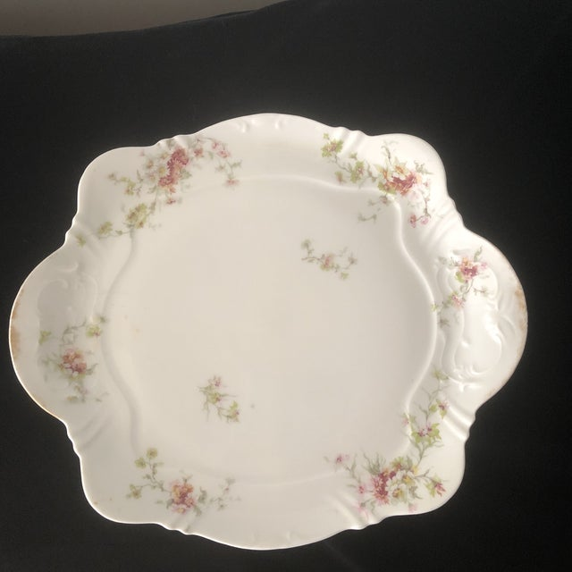 Green 1940s French Haviland China Holiday Platters - A Pair For Sale - Image 8 of 11