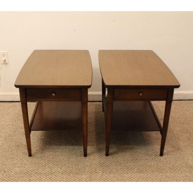 Mid-Century Danish Modern Walnut Side Tables - A Pair - Image 3 of 11