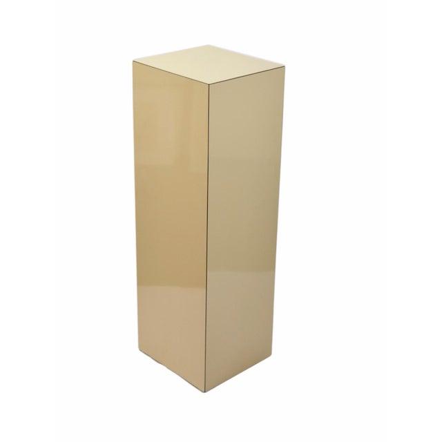 Vintage Modern Beige Pedestal Sculpture Plant Stand For Sale - Image 4 of 6