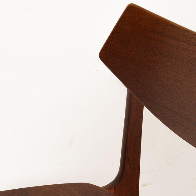 Danish Teak Curved Back Dining Chairs - Set of 4 For Sale - Image 11 of 13