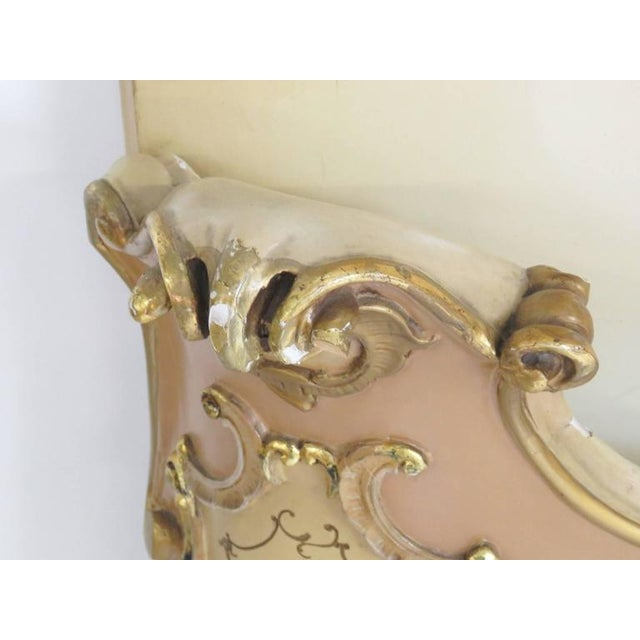 Venetian Style Paint Decorated Headboard For Sale - Image 5 of 8