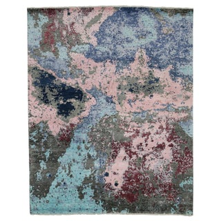 Modern Style Contemporary Abstract Paint Splatter Rug - 8′ × 12′ For Sale