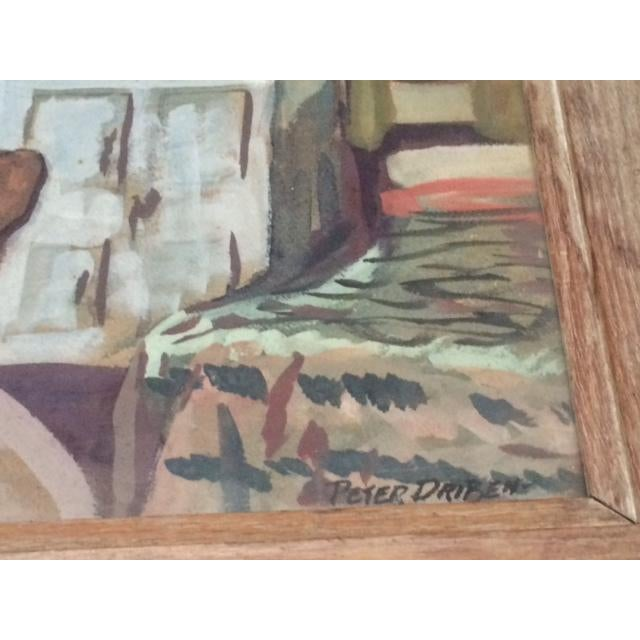 "Peter Driben Watercolor ""Retreat"" - Image 3 of 6"