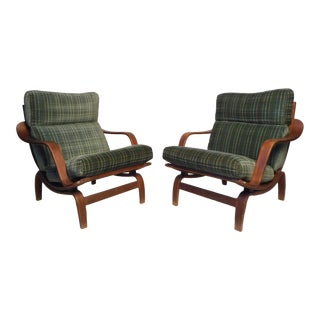 """""""Orbit"""" Lounge Chairs by Charlton - a Pair For Sale"""
