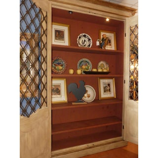Custom French Style Grate Front Lighted Display Cabinet Preview