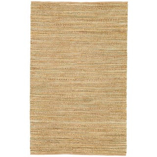 Jaipur Living Canterbury Natural Solid Beige/ Green Runner Rug - 2′6″ × 9′ For Sale